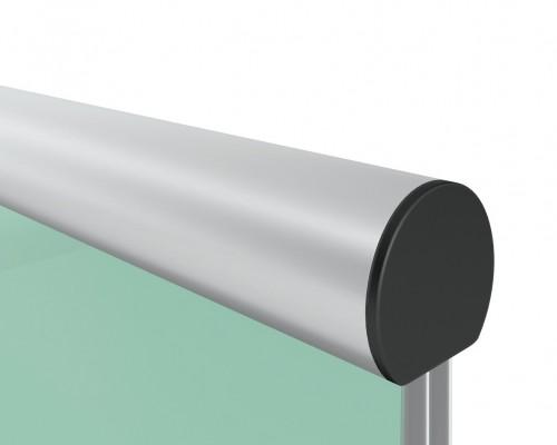 6539 Поручень для стекла 12, 16, 20мм алюминиевый