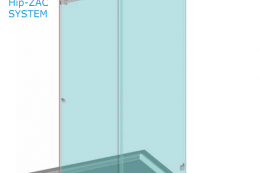 BZQ3 комплект на раздвижную душ 1200-1800мм.