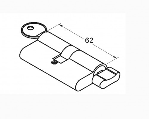 1626 Цилиндр ключ-барашек, 611