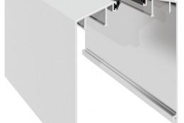 50-6549 Крышка декоративная алюминиевая для стекла 12-20мм
