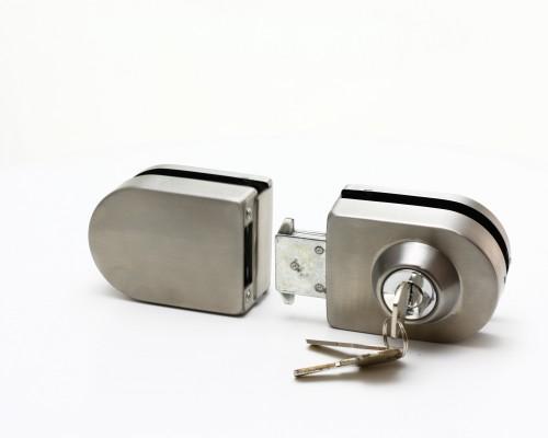 SF-011S-1 Замок с ответкой на стекло, ключ с одной стороны, SSS
