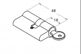 1625 Цилиндр ключ-ключ, 712