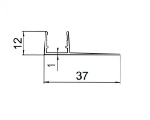 8PT8-25 уплотнитель под стекло 8-10мм.,L=2.2m.