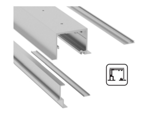 SV-X110 Направляющая для навесного потолка + фиксированная створка