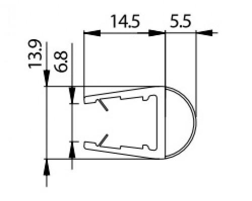 8PT1-10 уплотнитель под стекло 8-10мм. ,L=2.5m.