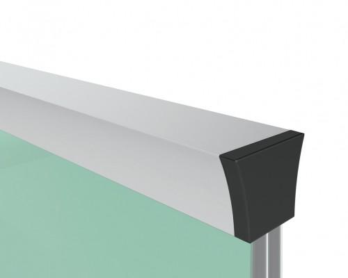 6832 Поручень для скла 12-20 мм алюмінієвий