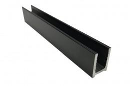 Швеллер алюминиевый, черный анод (12*17 мм)