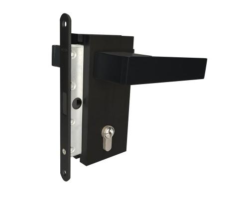 Магнітний замок під ключ чорний для алюмінієвої рами