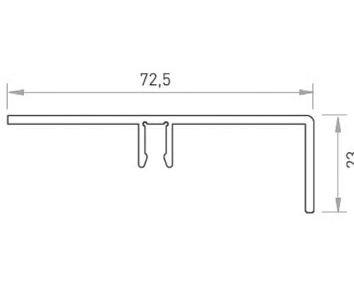 50-6963 Крышка декоративная алюм. для стекла 25мм, анод.