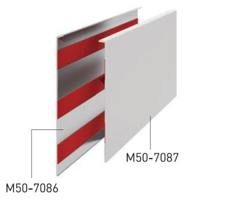50-7087 Крыша декоративная алюм. для стекла 25мм, анод.