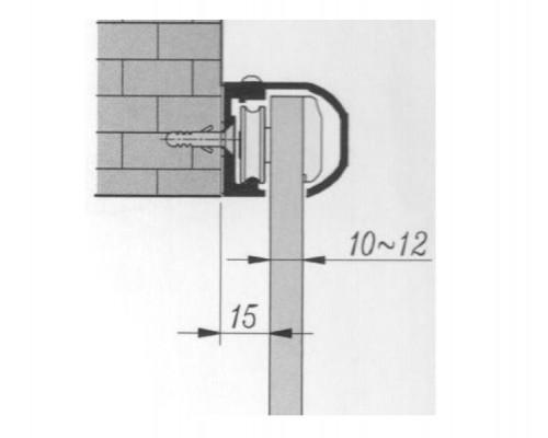 TLG-213 SF раздвижная система на стену 2000мм.